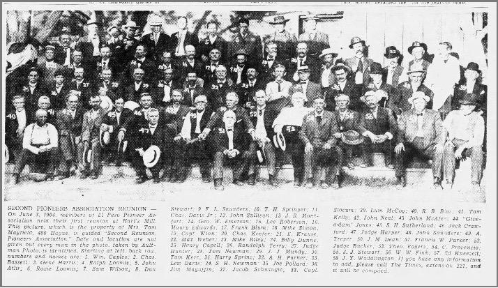 Harry Sprinz Pioneers Reunion El Paso Times
